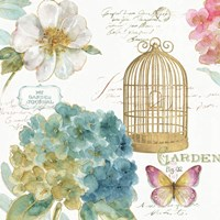 Rainbow Seeds Floral Birdcage III Fine-Art Print
