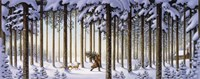 Winter Scene Man With Tree Fine-Art Print