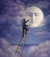 Man With Moon Fine-Art Print