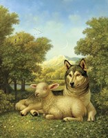 Wolf Lies Down With The Lamb Fine-Art Print