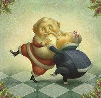 Dancing Santa and Mrs. Fine-Art Print