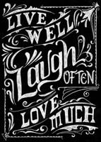 Live Well Laugh Often Love Much Fine-Art Print