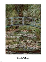 Waterlily Pond, Japanese Bridge Fine-Art Print