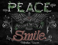 Peace Begins With A Smile Fine-Art Print