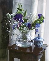 Fiori Blu e Sgabello Fine-Art Print