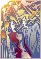 Architectural Business Couple Fine-Art Print