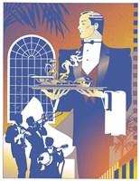 Band And Waiter Fine-Art Print