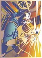 Welder's Spark Fine-Art Print