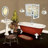 Red Master Bath I Fine-Art Print