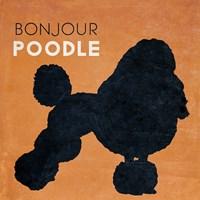 Bon Jour Poodle Fine-Art Print