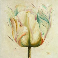 White Double Tulips I Fine-Art Print