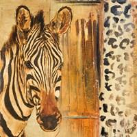 New Safari on Gold Square I Fine-Art Print