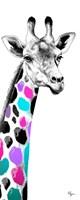 Multicolored Giraffe I Fine-Art Print