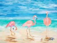 Flamingo Beach I Fine-Art Print