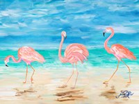 Flamingo Beach II Fine-Art Print