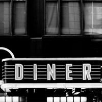 B&W Diner Fine-Art Print