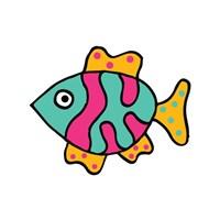 Whimsical Sea Creatures II Fine-Art Print