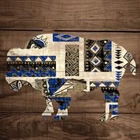 Bison on Wood Fine-Art Print