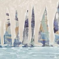 Muted Sail Boats Square II Fine-Art Print