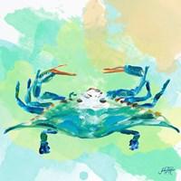 Watercolor Sea Creatures I Fine-Art Print