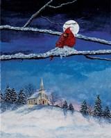 Little White Church On Hill Fine-Art Print