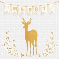 Gold Reindeer II Fine-Art Print