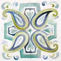 Contemporary Tiles with Paisley Fine-Art Print
