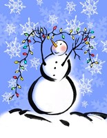 Silly Snowmen I Fine-Art Print