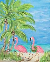 Flamingo Christmas II Fine-Art Print