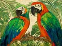 Island Birds on Burlap Fine-Art Print