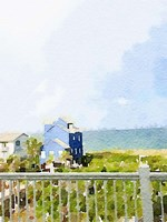 Watercolor Coastal Cottage Fine-Art Print