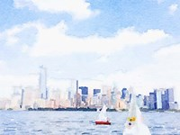 Watercolor NYC Skyline II Fine-Art Print