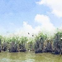 Watercolor Black Hammock Lake Fine-Art Print