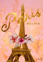 Gold Paris Eiffel Panel Fine-Art Print