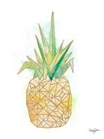 Watercolor Origami Pineapple Fine-Art Print