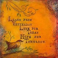Learn Live Hope I Fine-Art Print