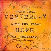 Learn Live Hope II Fine-Art Print
