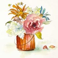 Flower Burst in Vase I Fine-Art Print