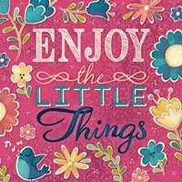 Enjoy the Little Things Burst I Fine-Art Print
