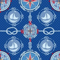 Nautical Navigation Pattern IV Fine-Art Print