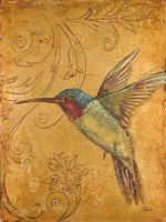 Golden Hummingbird II Fine-Art Print