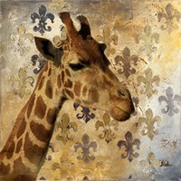 Golden Safari III (Giraffe) Fine-Art Print