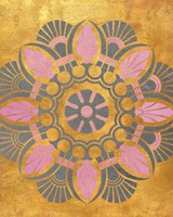 Gray and Pink Medallion II Fine-Art Print