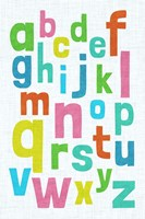 Alphabet of Colors I Fine-Art Print