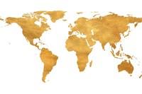 Gold World Map Fine-Art Print