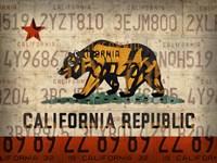Cali State Flag License Plates Fine-Art Print