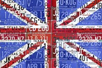 Uk Flag License Plate Fine-Art Print