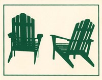 Green Deck Chairs Fine-Art Print