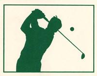 Green Golfer Fine-Art Print