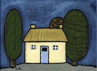 Cottage with Blue Door Fine-Art Print
